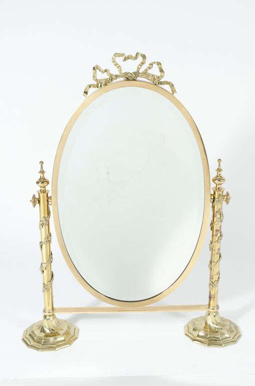 Fancy Italian Looking Glass Vanity Mirror For Sale 5