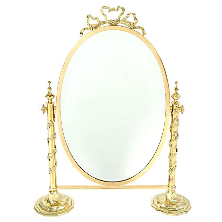 Fancy Italian Looking Glass Vanity Mirror For Sale