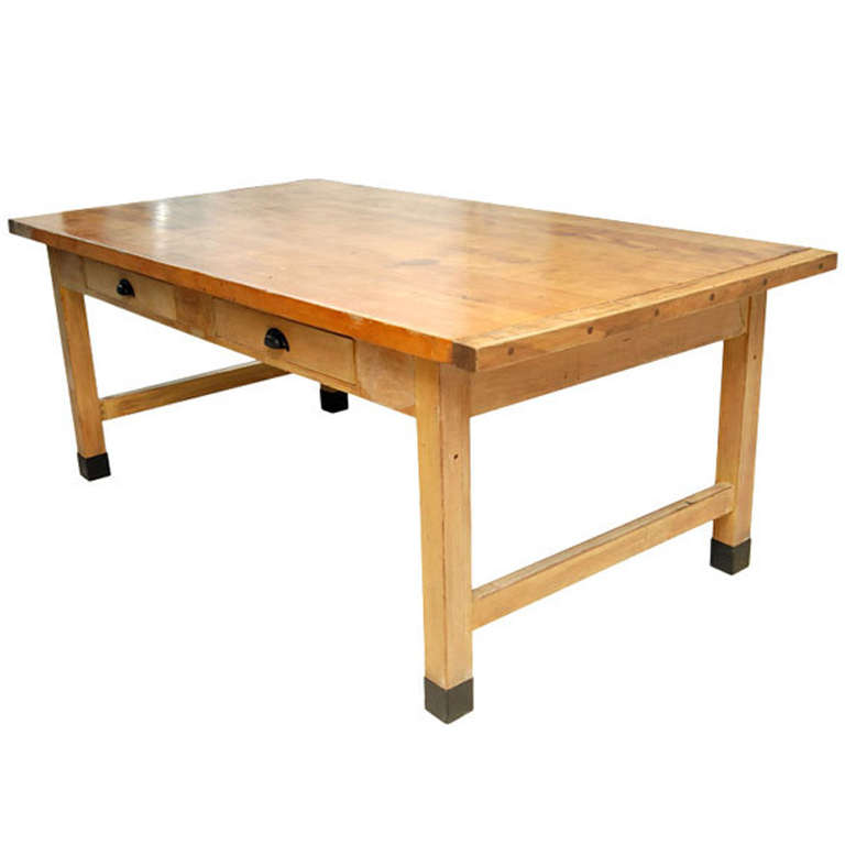 Used Dining Room Tables For Sale: Large Dining Or Work Table For Sale At 1stdibs