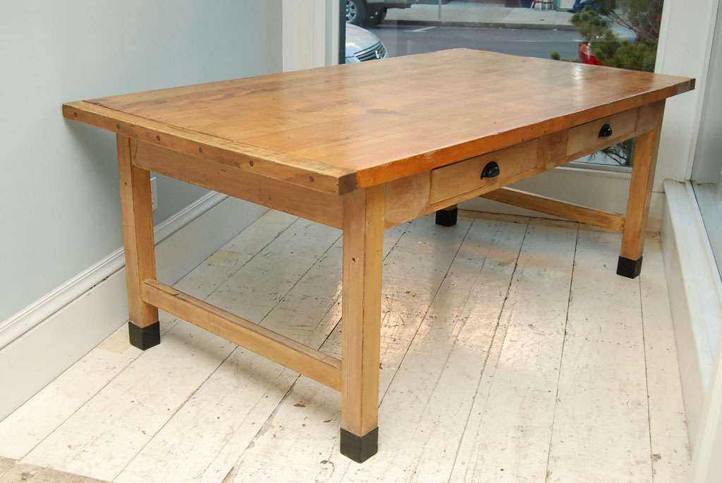 Ordinaire This Large Work Or Dining Table Is Quite Suitable For Creating A Single  Long Table Or