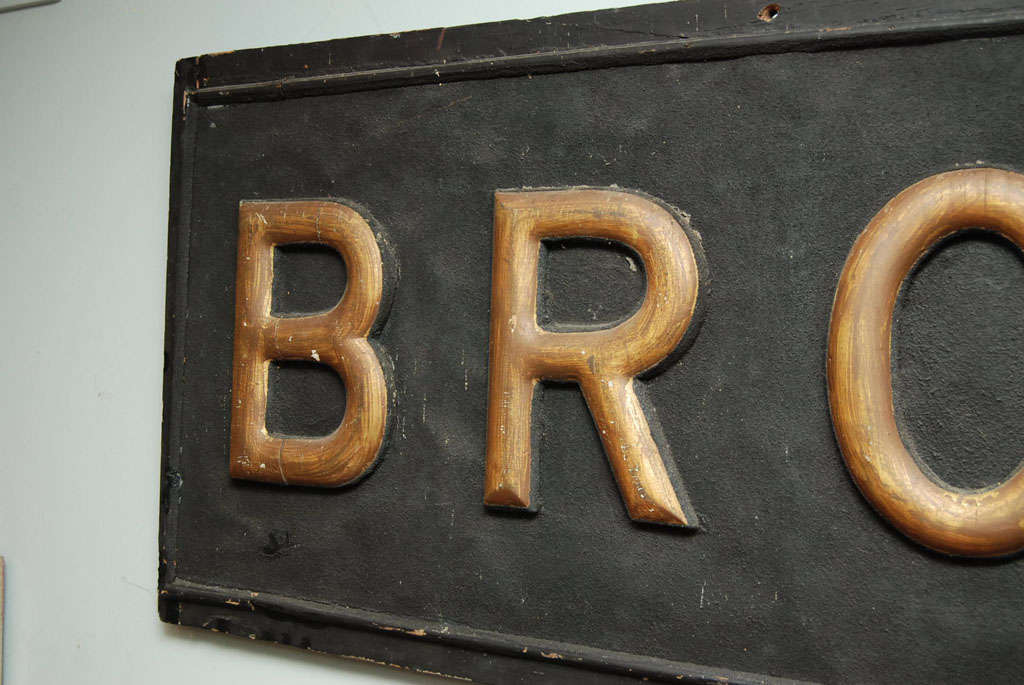 American Early 20th Century Sign For Sale