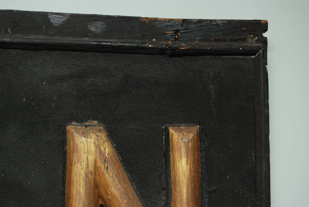 Wood Early 20th Century Sign For Sale