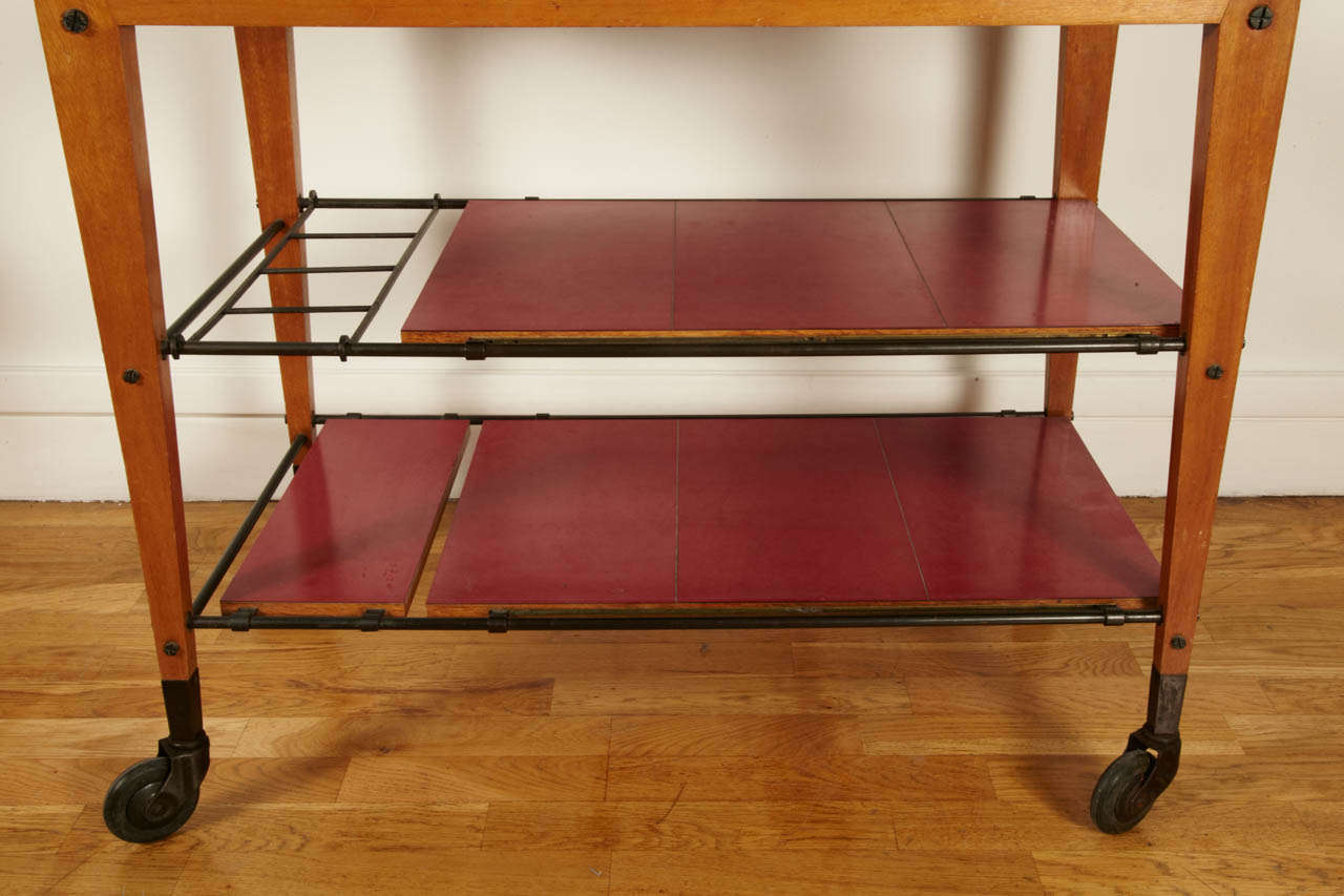 French 1950s Trolley Table by Maxime Old For Sale