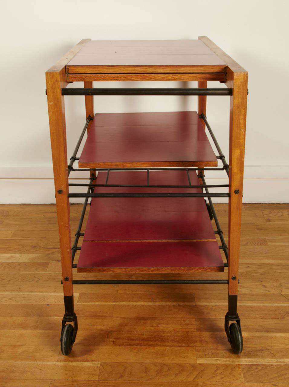 Maple 1950s Trolley Table by Maxime Old For Sale