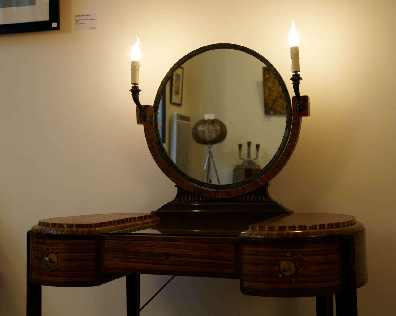 Art Deco Dressing Table with Stool by Krieger, circa 1925 For Sale 1