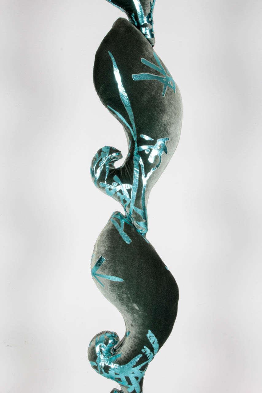 Carla Tolomeo Quot Totem Lulle E Pesci Quot Sculptural Silk Velvet