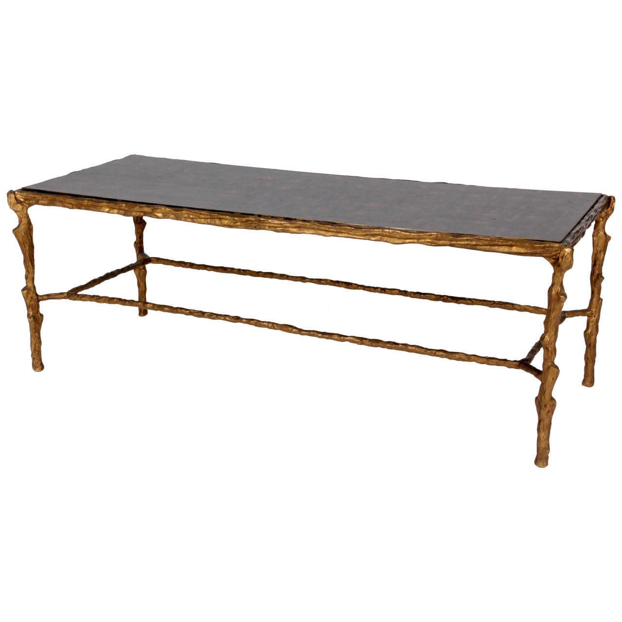 French Art Deco Gilt Bronze Coffee Table C. 1940 At 1stdibs