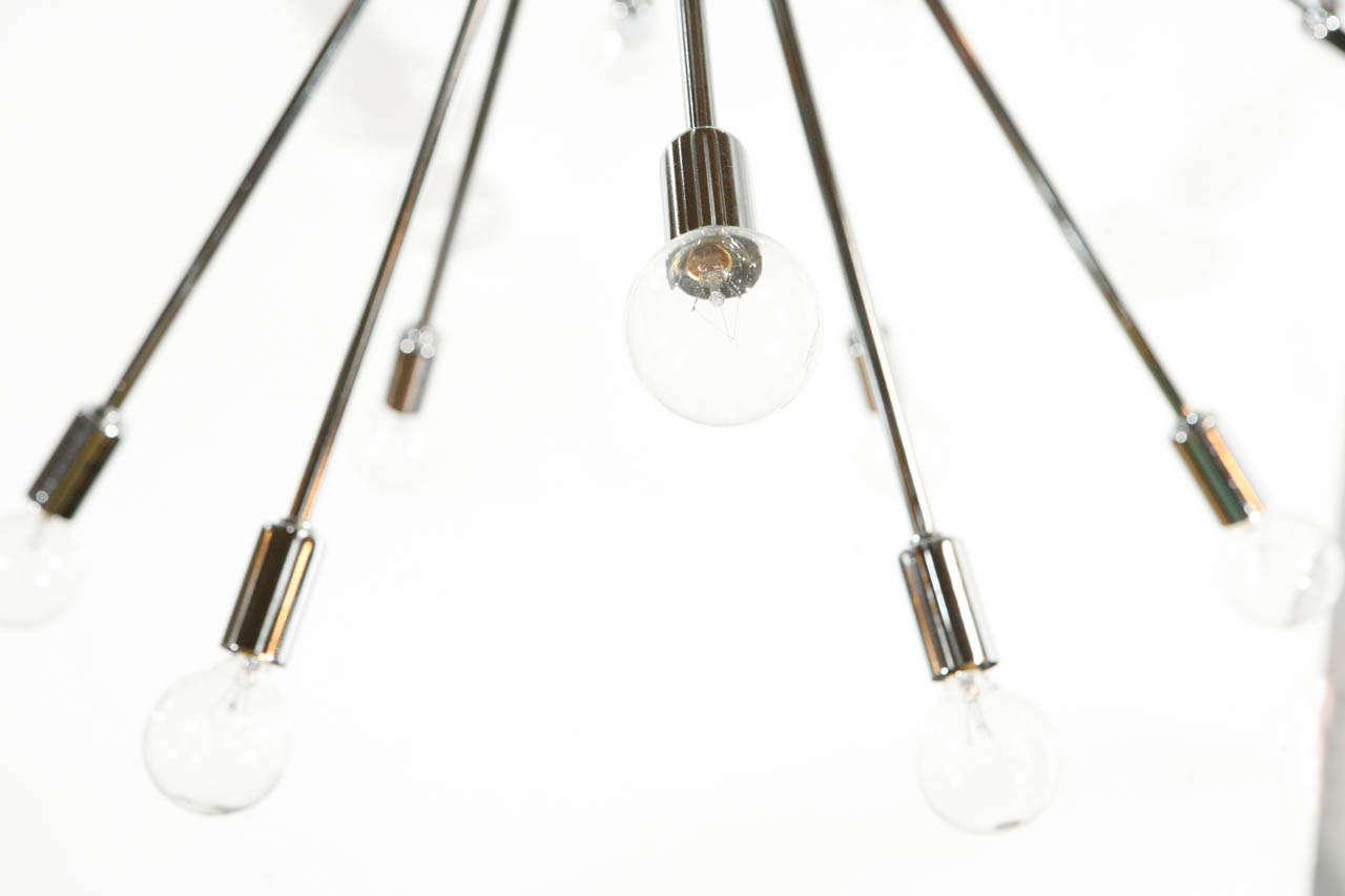 20th Century Thirty-Six-Light Chrome Sputnik Chandelier For Sale