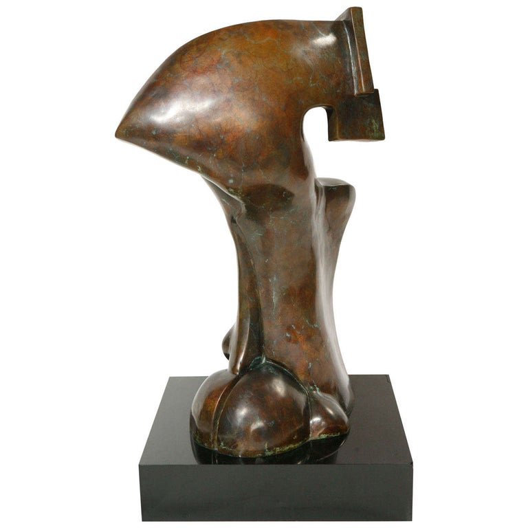 Bronze Sculpture by Sy Rosenwasser For Sale