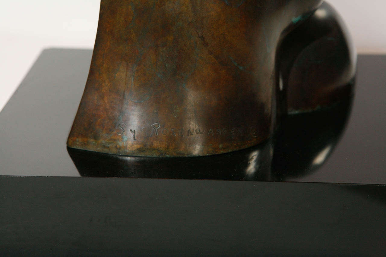 Bronze Sculpture by Sy Rosenwasser For Sale 1