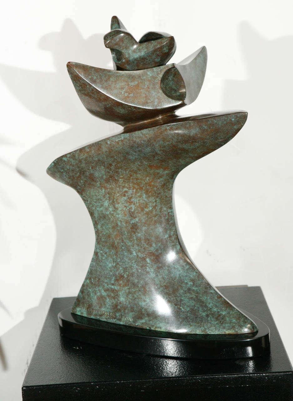 verdigris finish bronze sculpture by sy rosenwasser image 3. Black Bedroom Furniture Sets. Home Design Ideas