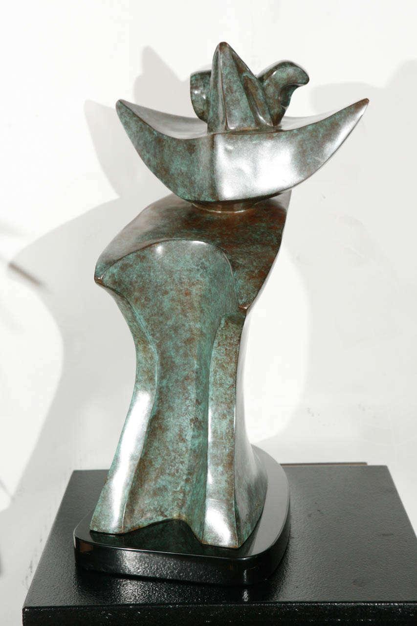 verdigris finish bronze sculpture by sy rosenwasser image 6. Black Bedroom Furniture Sets. Home Design Ideas