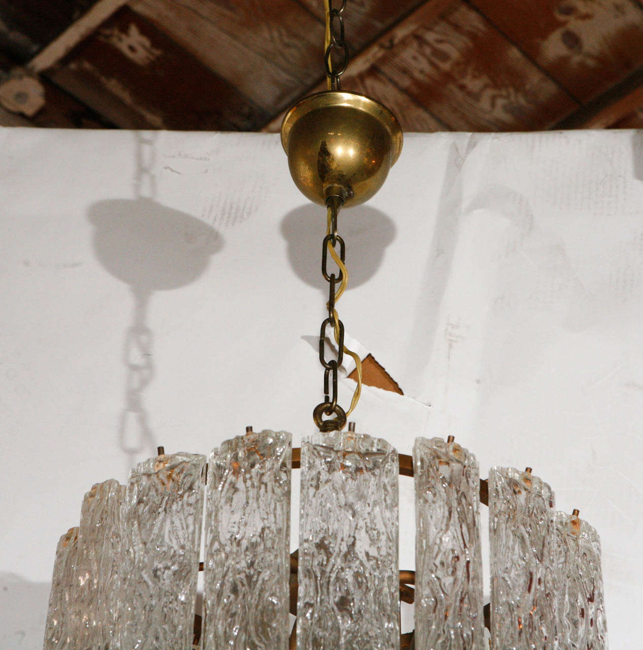 Vintage Murano Chandelier In Good Condition For Sale In Cathedral City, CA