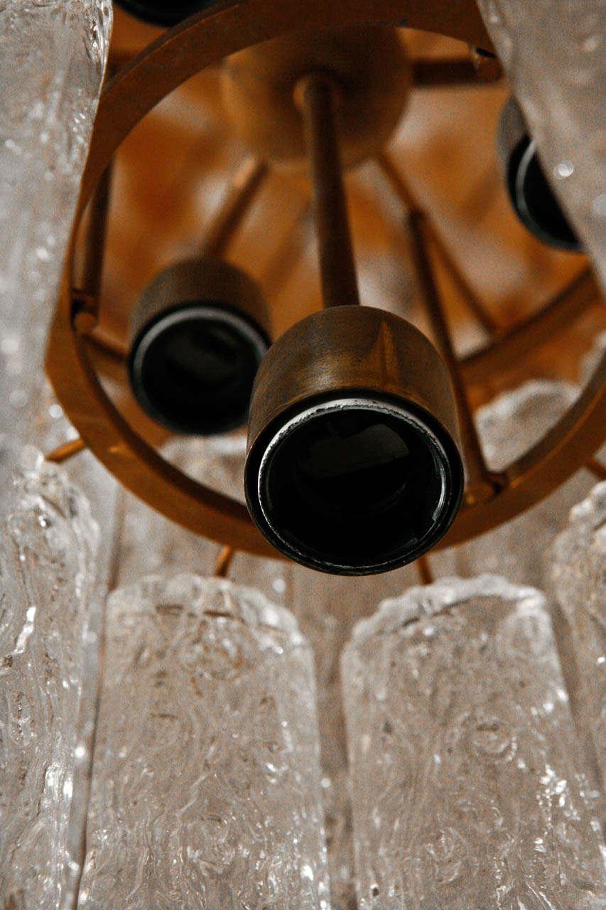 Brass Vintage Murano Chandelier For Sale