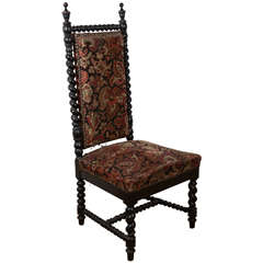 19th Century Hand-Carved Antique French Chair in Bretagne Style