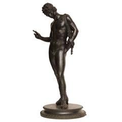 19th Century Bronze Figure of Narcisus