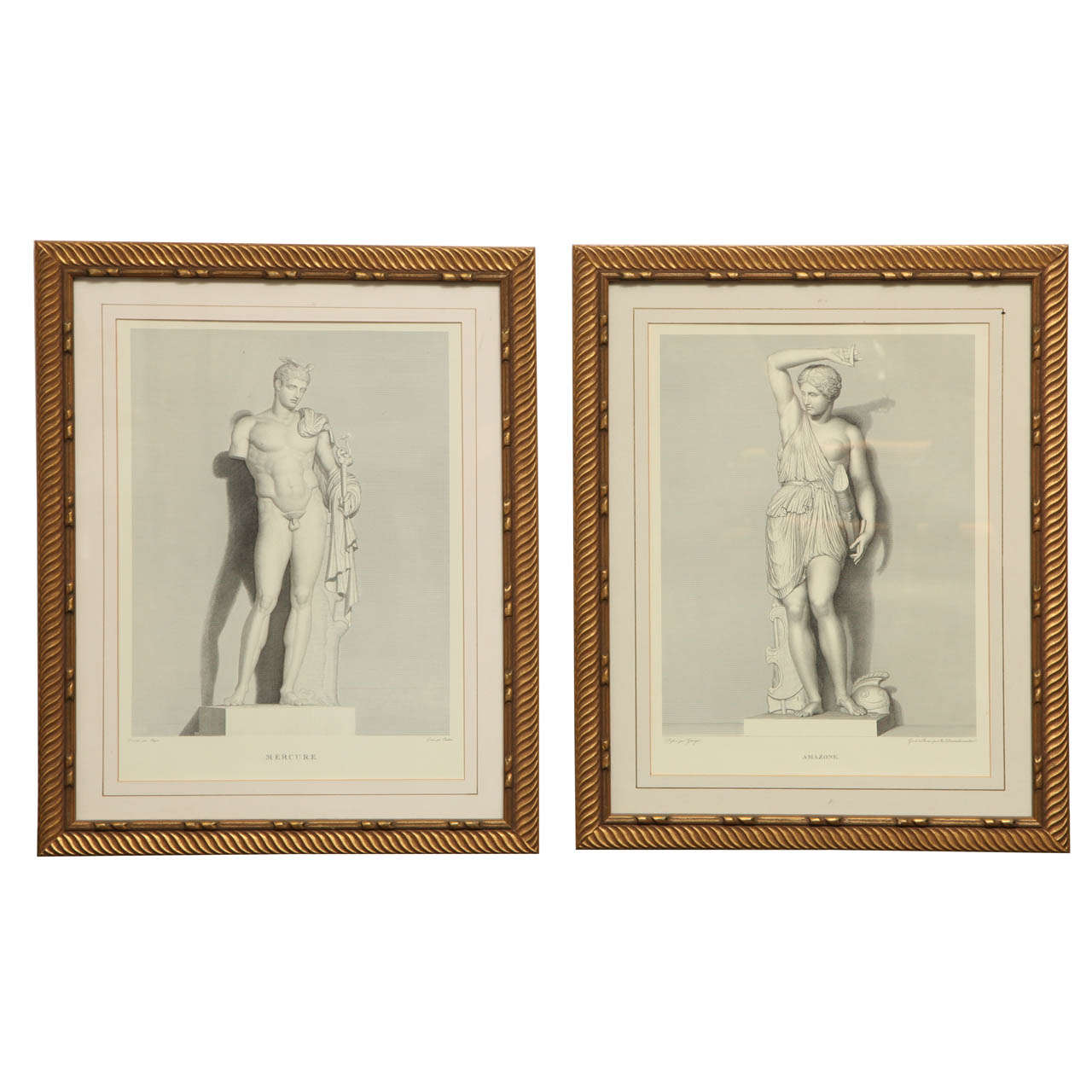 Two 19th Century Italian Engravings of Classical Figures