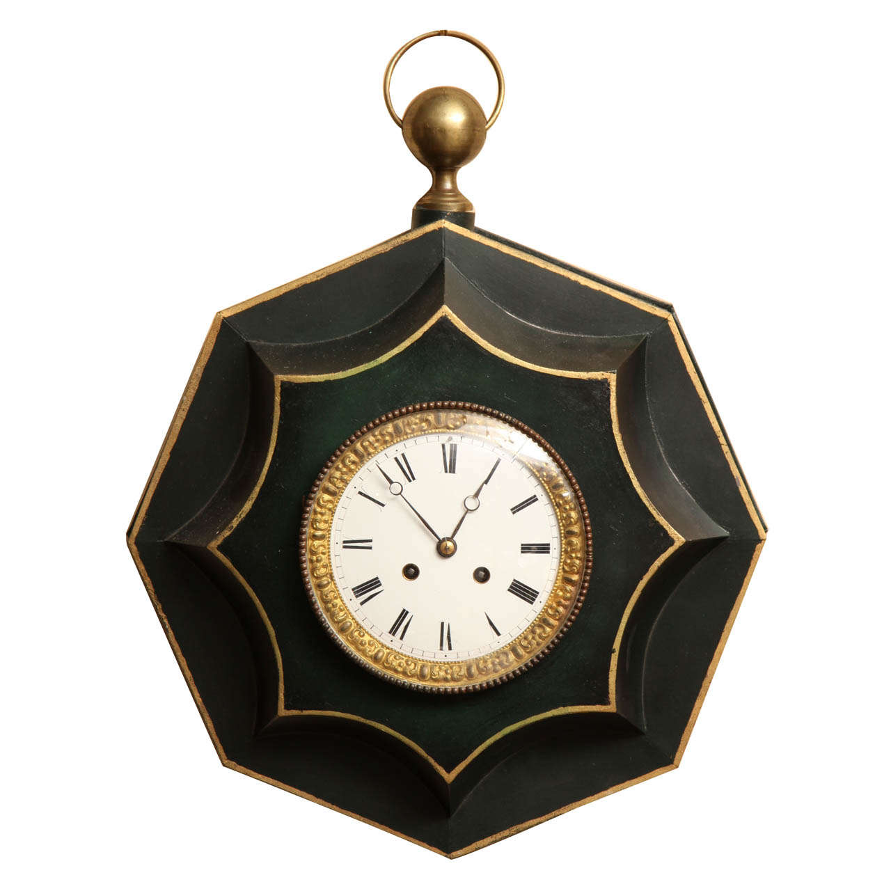 19th Century French, Tole Clock