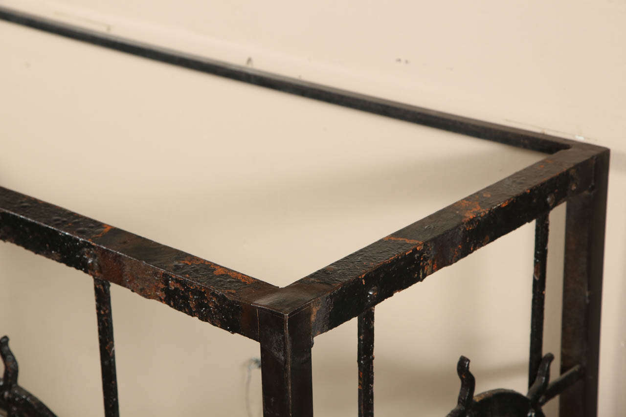 Cast iron side table made from old balcony for sale at 1stdibs for Balcony console