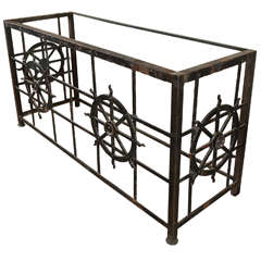 Cast Iron Side Table Made from Old Balcony