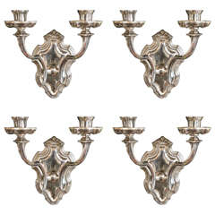 Pair of Silver Plated Caldwell Sconces