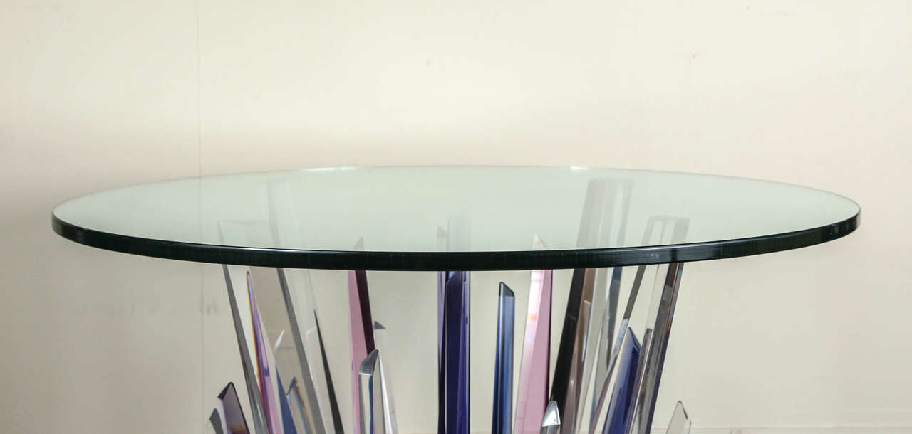 North American Stunning Stalagmite Lucite Table For Sale
