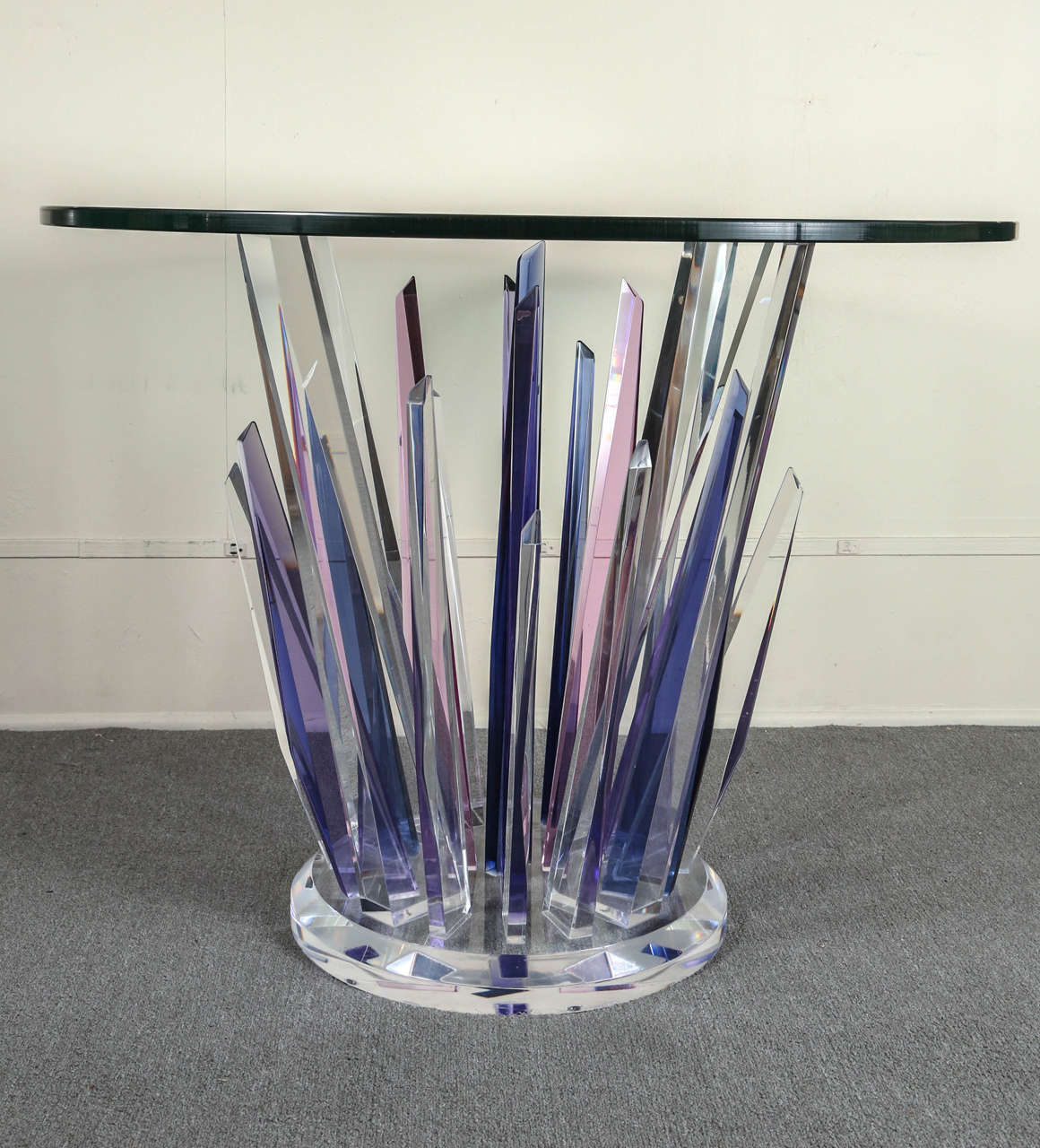 Glass Stunning Stalagmite Lucite Table For Sale