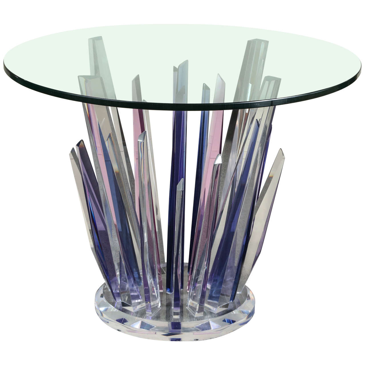 Stunning Stalagmite Lucite Table For Sale