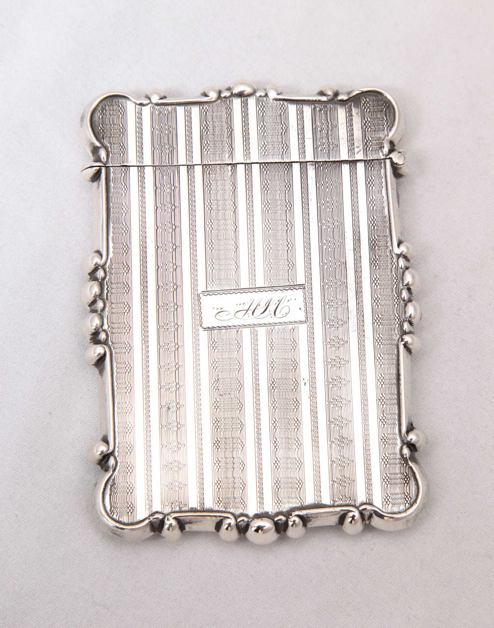 American Coin Silver Business or Calling Card Case In Excellent Condition For Sale In New York, NY