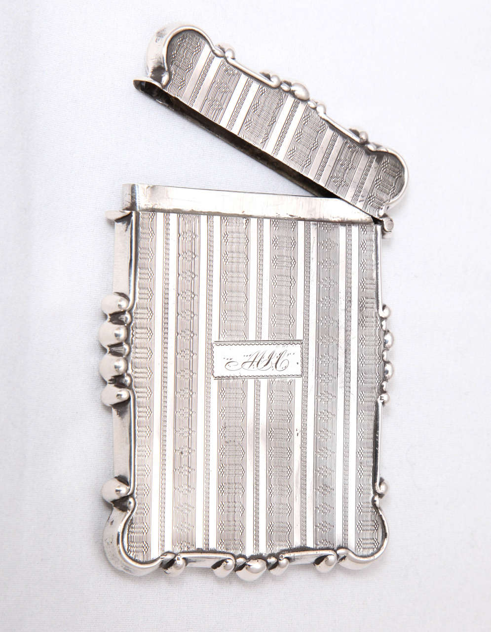 Mid-19th Century American Coin Silver Business or Calling Card Case For Sale
