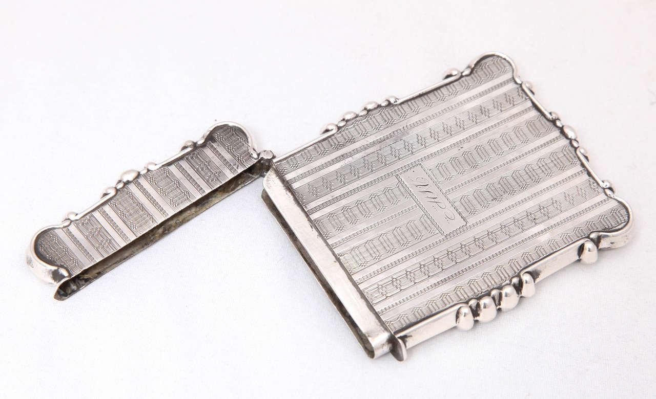 American Coin Silver Business or Calling Card Case For Sale 2