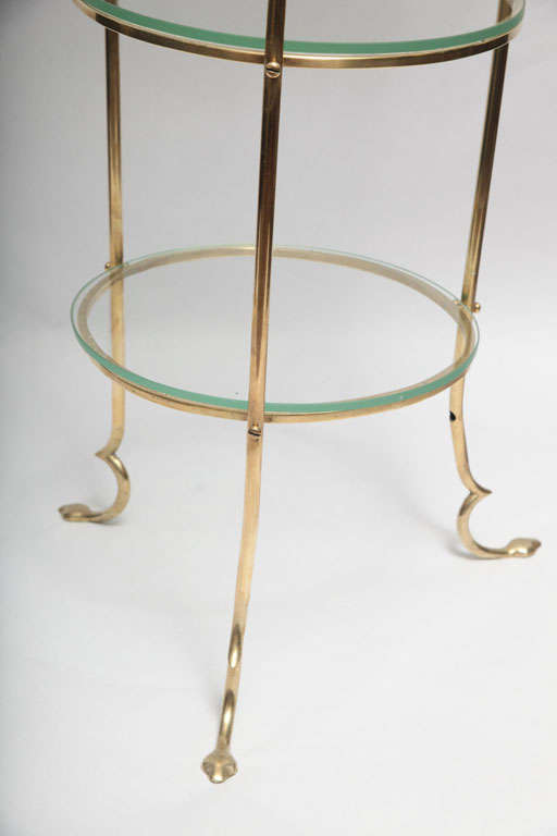 Mid-Century Modern  Floor Lamps brass and glass shelves France 1940's For Sale