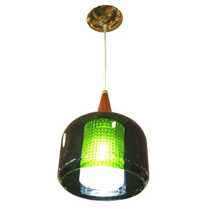 Mid century handblown green glass pendant light by orrefors for mid century handblown green glass pendant light by orrefors for sale mozeypictures Image collections