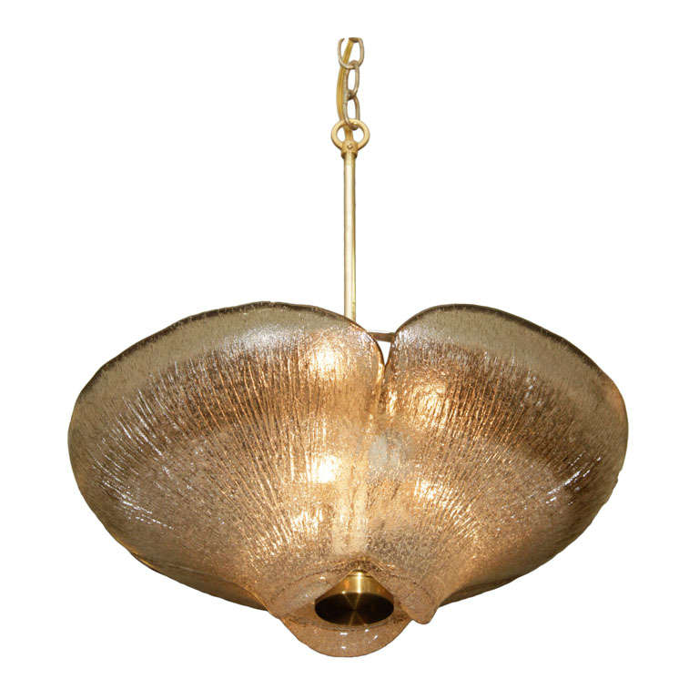 murano textured glass flowe form pendant light circa 1970s at 1stdibs. Black Bedroom Furniture Sets. Home Design Ideas