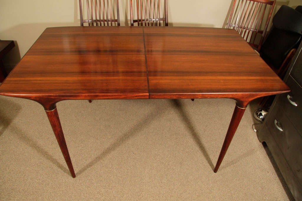 Mid Century Danish Modern Dining Table And Six Chairs At