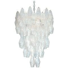 Rare Poliedri Hanging Fixture by Venini