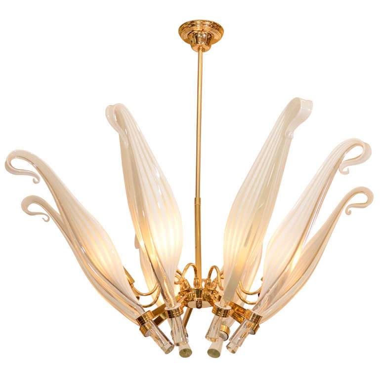 Beautiful Murano Chandelier By Franco Luce At 1stdibs