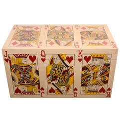 Hand Painted Playing Card Trunk