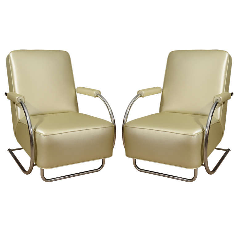 Louis Sognot Armchairs For Sale