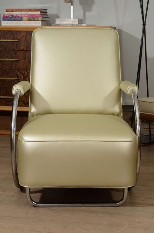 20th Century Louis Sognot Armchairs For Sale