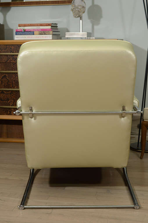 Steel Louis Sognot Armchairs For Sale