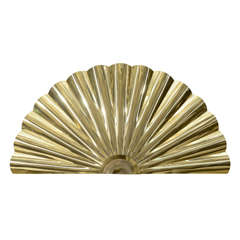 "Midcentury Brass ""Fan"" Wall Sculpture by Curtis Jere"