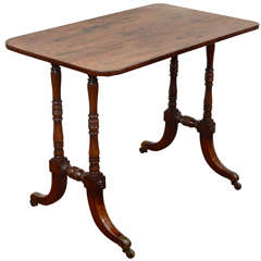 An Early 19th Century English Calamander Writing Table