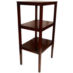 A George III Mahogany Three Tier Étagère
