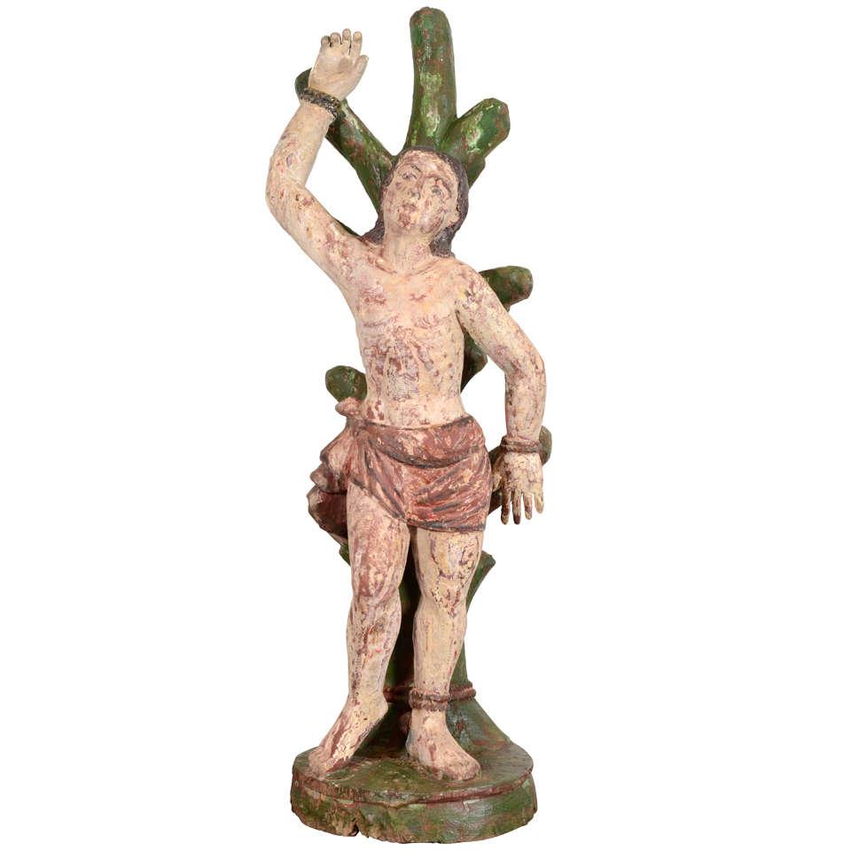 St Sebastian Statue At 1stdibs