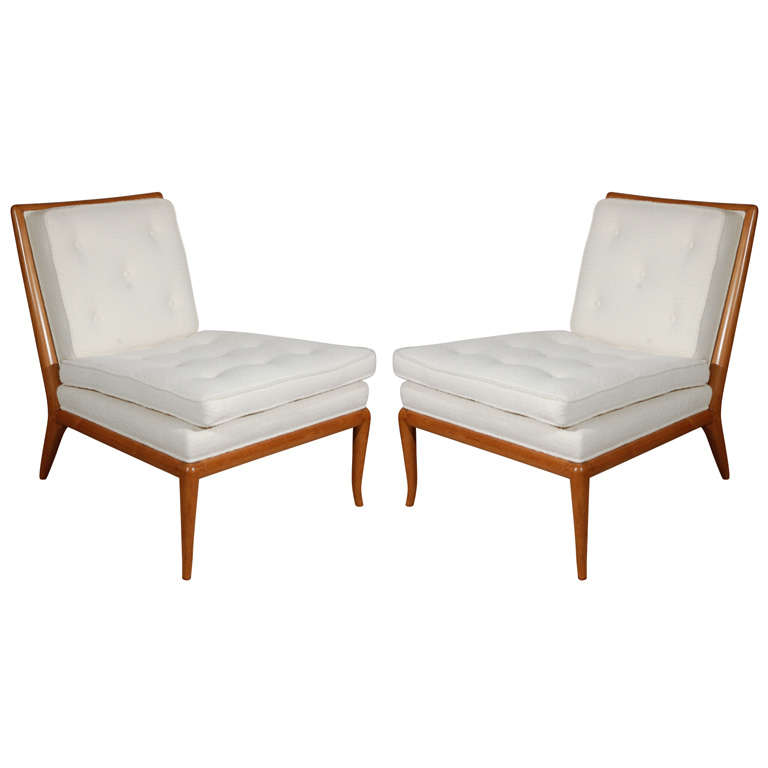 Pair of T.H. Robsjohn Gibbings for Widdicomb Slipper Chairs
