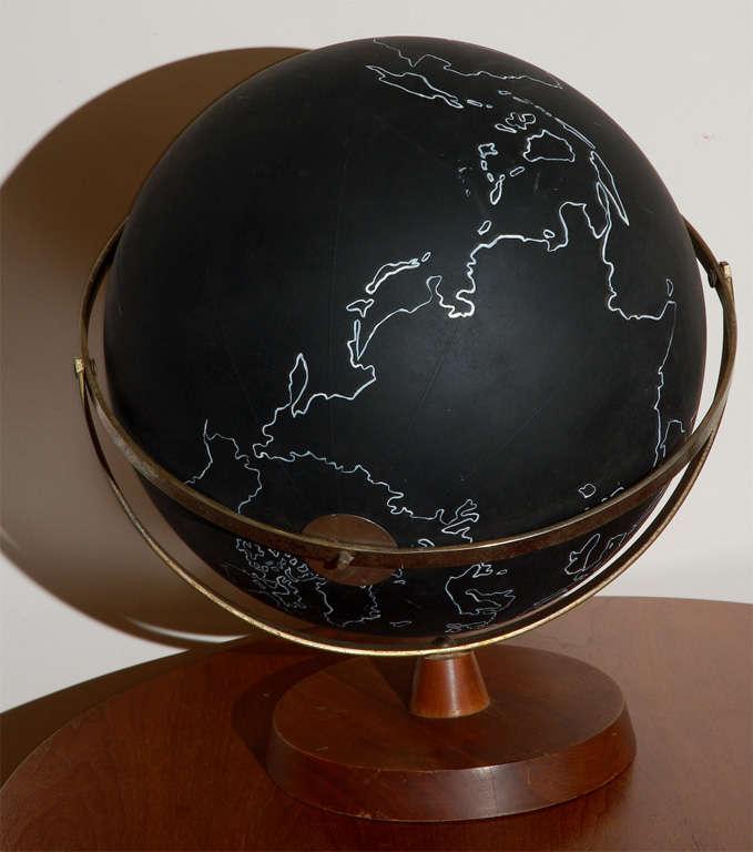 Vintage Black School Globe image 4
