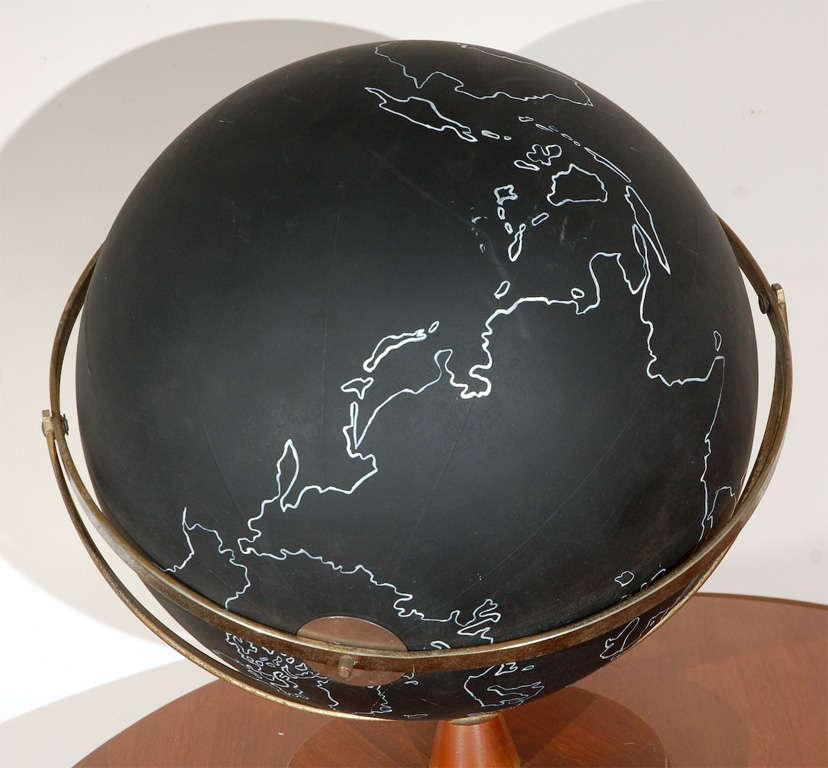 Vintage Black School Globe image 5