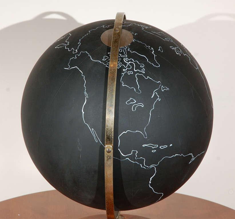 Vintage Black School Globe image 6