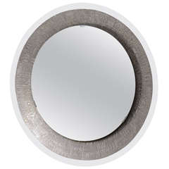 Furgieri Silver Plated Back-Lit Mirror from Italy